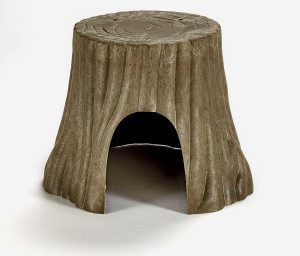 Tree trunk plastic house for guinea pigs