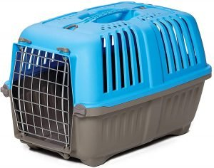 Large blue/grey plastic travel cage for guinea pigs