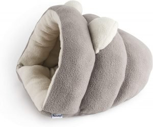 Grey guinea pig bed made from fleece fabric