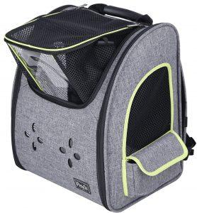 Black-gray guinea pig travel backpack
