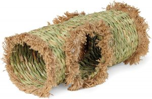 Guinea pig tunnel made from natural hand-woven grass