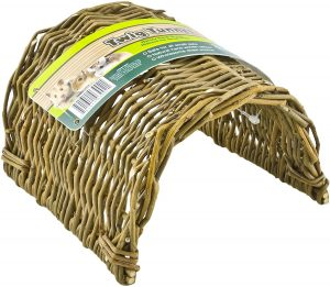 Hand woven willow twig tunnel for guinea pigs